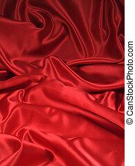 Red Satin Fabric 1