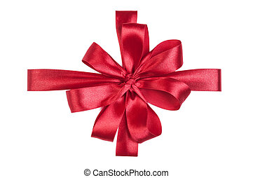 Red Satin Gift Ribbon Decorative Bow