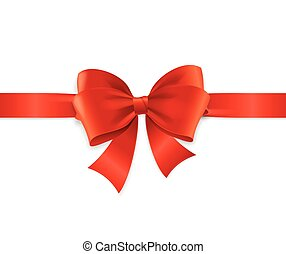 Red Satin Ribbon. Vector - Red Satin Ribbon for Invitation,...