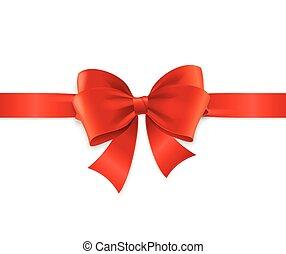 Red Satin Ribbon. Vector - Red Satin Ribbon for Invitation,...