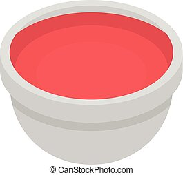 Red sauce icon, isometric style