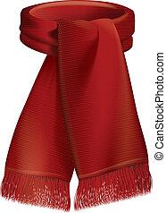 Red scarf illustration