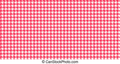 Red Scarlet Seamless Houndstooth Pattern Background. Traditional Arab Texture. Fabric Textile Material.