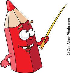 red school pencil