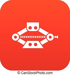 Red scissor car jack icon digital red for any design...