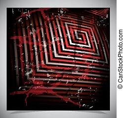 Red scratch grunge background