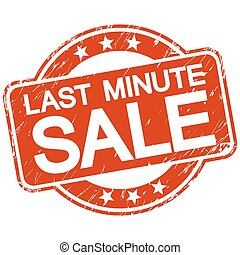 red scratched stamp last minute sale - red round stamp with...