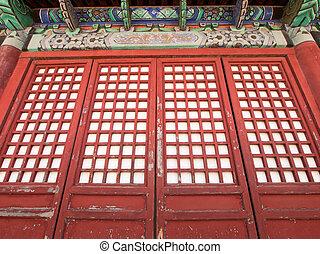 Red screen doors