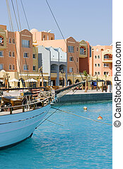 Red Sea port of Sekalla with newly deweloped apartment ...