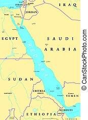 Red Sea region political map