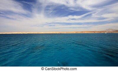 Seascape in Red Sea in Egypt