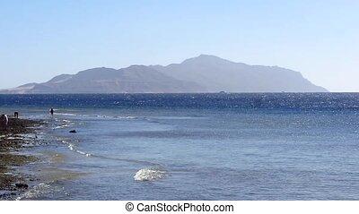 The coast of the Red Sea and Tiran Island