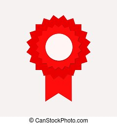 red seal guarantee win with ribbon, stock vector illustration