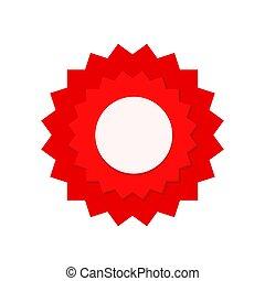 red seal guarantee with ribbon, vector illustration