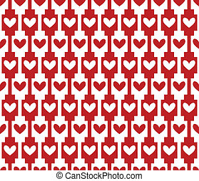 red seamless background, pattern with hearts