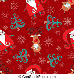 Red seamless christmas pattern 1.