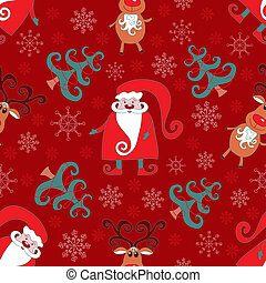 Red seamless christmas pattern 2.