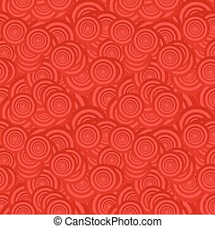 Red seamless circle pattern background