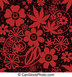 Red seamless lace pattern