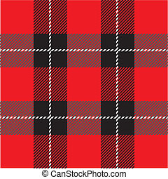 red seamless tartan plaid pattern - vector red seamless...