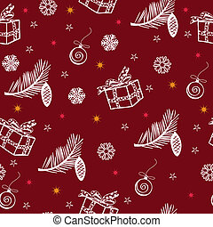 seamless vector christmas background