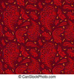 Red seamless vector pattern
