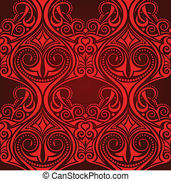 Red seamless wallpaper pattern