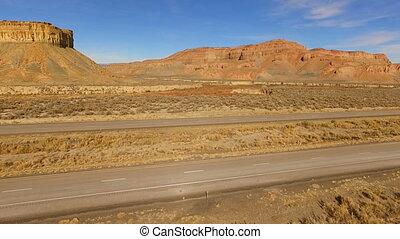 Red Semi Truck 18 Wheeler Utah Red Rock Highway...