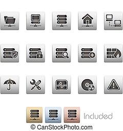red, servidor, y, hosting, /, metalic