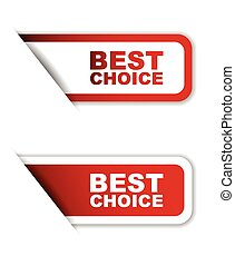 red set vector paper stickers best choice