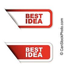 red set vector paper stickers best idea