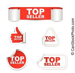 red set vector paper stickers top seller