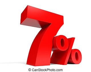 Red seven percent off. Discount 7%.