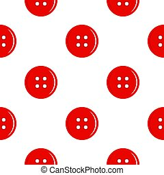 Red sewing button pattern flat