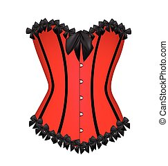 Red sexy corset