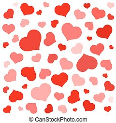 Red shapes hearts Valentine holiday love