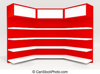 Red shelves