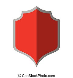 red shield protection gray border shadow
