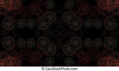 Red shimmering circles