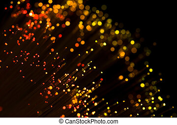 red shining fiber optic