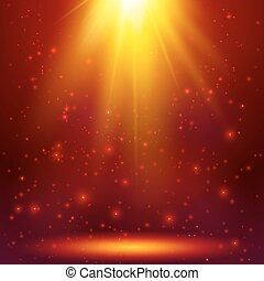 Red shining magic vector light background