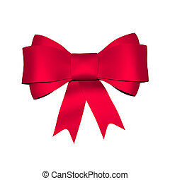 Red shiny bow