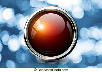 Red shiny button background
