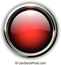 Red shiny button