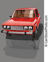 Red Shiny Car