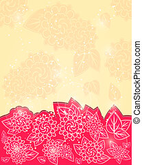 Red Shiny Floral Greeting Card