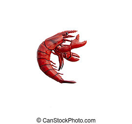 Red shiny lobster