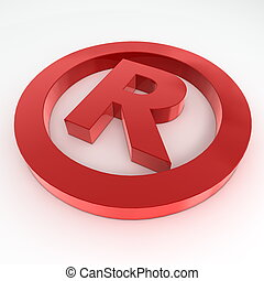 Red Shiny Registered Trademark Symbol - red shiny and glossy...
