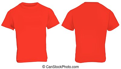 Blank Red T Shirt Back