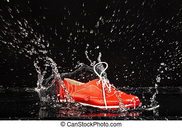 Red Shoe In The Water